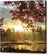Autumn Morning At Harvard Pond Acrylic Print