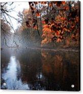 Autumn Morning By Wissahickon Creek Acrylic Print