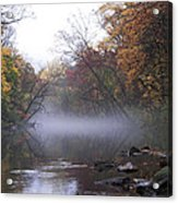 Autumn Morning On The Wissahickon Acrylic Print