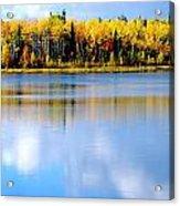 Autumn On Chena Lake L Acrylic Print