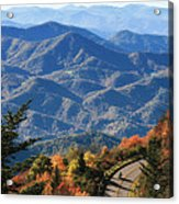 Autumn On The Blue Ridge Parkway Acrylic Print
