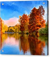 Autumn On The Lake Acrylic Print