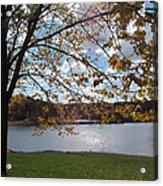 Autumn Overlooking The Dam Acrylic Print