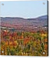 Autumn Panorama Brome Quebec Canada Acrylic Print