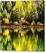 Autumn Reflection In Georgetown Lake Colorado Acrylic Print