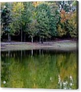 Autumn Reflections Upon Dark Waters Acrylic Print