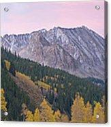 Autumn Rocky Mountains Acrylic Print