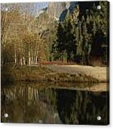 Autumn View Of The Park With Half Dome Acrylic Print