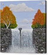 Autumn Waterfall Acrylic Print
