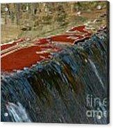Autumn Waterfall Reflections Acrylic Print