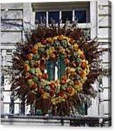 Autumn Wreath Acrylic Print