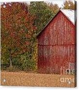Autumnal Barn Acrylic Print
