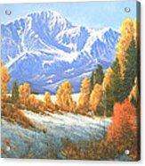 Autumn's Song - Pikes Peak 111119-1836 Acrylic Print