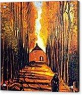 Avenue At Poplars Acrylic Print