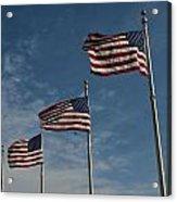 Avenue Of Flags Acrylic Print