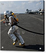 Aviation Boatswain's Mate Carries Acrylic Print