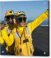Aviation Boatswain Mates Direct An Acrylic Print