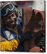 Aviation Boatswains Mate  Carrying Acrylic Print