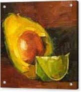 Avocado And Lemon Acrylic Print by Jose Romero