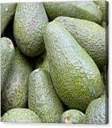 Avocado Greens Acrylic Print by Steve Outram