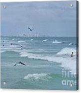 Awesome Day At The Beach Acrylic Print