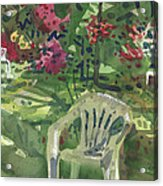 Azaleas And Lawn Chairs Acrylic Print