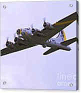 B-17g Liberty Belle Approach 8x10 Special Acrylic Print by Tim Mulina