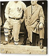 Babe Ruth And John Mcgraw 1923 Acrylic Print by Padre Art