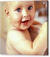 Baby Boy Before A Bath Acrylic Print
