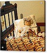 Baby Doll In Crib Acrylic Print