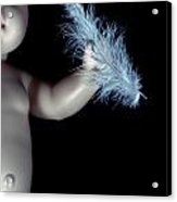 Baby Doll With Feather Acrylic Print