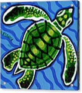 Baby Green Sea Turtle Acrylic Print