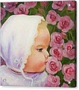 Baby Meets Hummingbird Acrylic Print