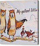 Baby Owls One Acrylic Print