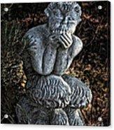 Baby Pan Statue Acrylic Print
