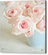 Baby Pink Roses Acrylic Print by Lyn Randle