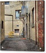Back Alley Cityscape Acrylic Print
