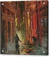 Back Alley Justice Acrylic Print by Tom Shropshire