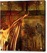 Back Bone #3 Acrylic Print by Janet Kearns