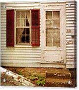 Back Door Of Old Farmhouse Acrylic Print