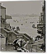Back Door Of Venice Acrylic Print