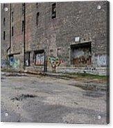 Back Of Warehouse Loading Dock Acrylic Print