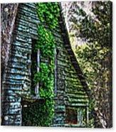 Back To Nature - Crumbling Barn Acrylic Print