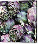 Background Of Artichokes Acrylic Print by Jane Rix