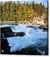Backguard Falls On Fraser River In British Columbia Acrylic Print by Mark Duffy