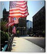 Backlit Flag Acrylic Print
