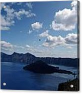 Backside Of Crater Lake Acrylic Print