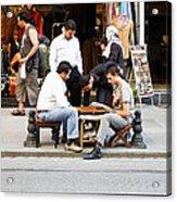 Backstreet Backgammon Acrylic Print