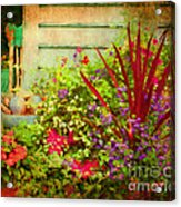Backyard Flower Garden Acrylic Print