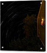 Backyard Star Trails Acrylic Print